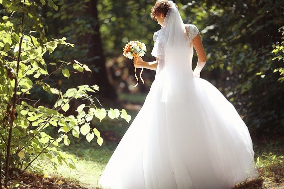 幸せな結婚を手に入れたアラサーの花嫁姿