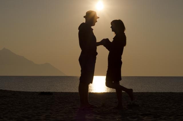 ロマンチックな雰囲気のデート