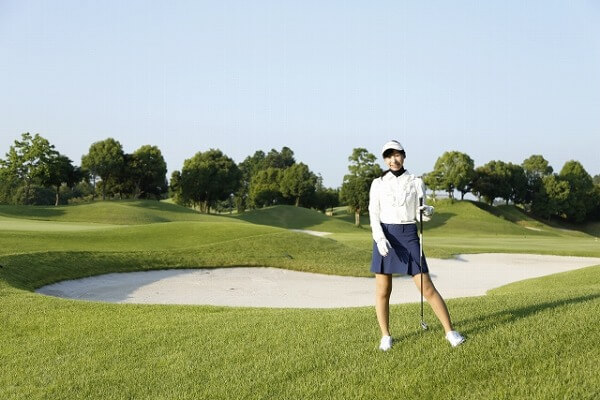ゴルフデートは健康的