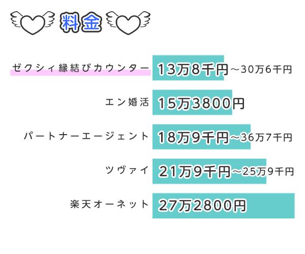 結婚相談所の料金の比較表